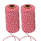 Sunmns Christmas Twine Cotton String Rope Cord for Gift Wrapping, Arts Crafts, 656 Feet (Multicolor D) (Color: Multicolor D)