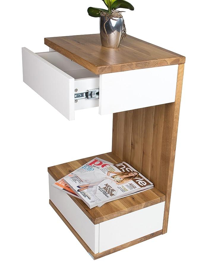 HL Design 01-08-108,3 Linus-Tavolino basso in legno di rovere selvatica, 40,0 x 32 x 70,0 cm
