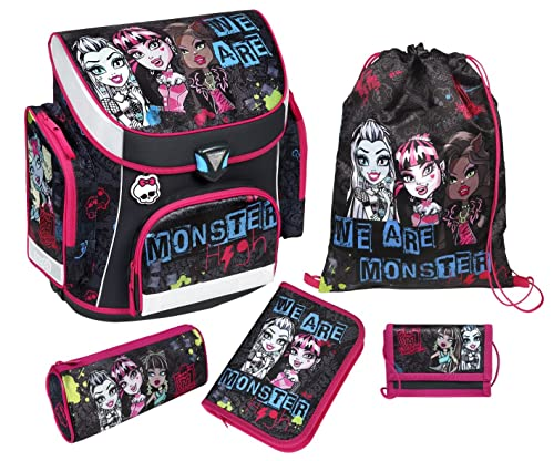 Scooli Schulranzen im Set Campus Plus mit dem Motiv Monster High
