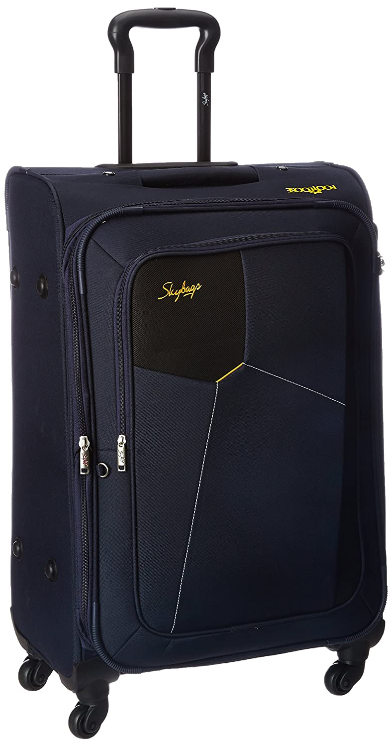 Minimum 40% Off On Skybags By Amazon | Skybags Rubik Polyester 68 cms Blue Softsided Suitcase (STRUBW68BLU) @ Rs.3,999