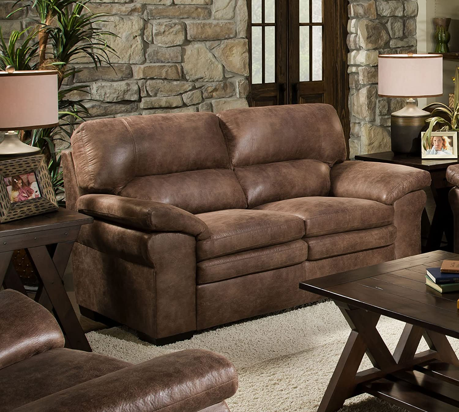 Chelsea Home Furniture Montgomery Loveseat - Shogun Mocha