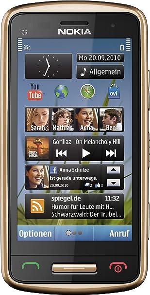Nokia C6-01 Smartphone - Ecran tactile 8,1 cm -3,2 pouces - Appareil photo 8 mégapixels - Or (Import Allemagne)
