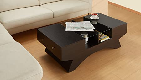 Komst Ultra-Modern Coffee Table, Espresso