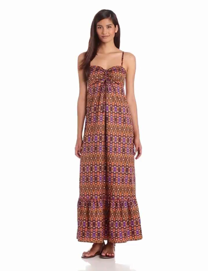 Anne Klein Womens Paisley Print Maxi Dress