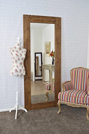 Extra Large Solid Wood Wall Mirror 7ft x 3ft