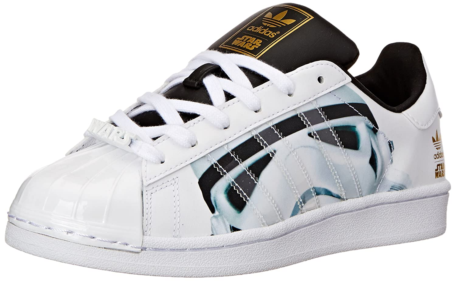 adidas Originals Superstar Stormtrooper J Lifestyle Basketball Shoe (Big Kid) adidas originals superstar foundation c shoe little kid