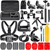 Navitech 18 in 1 Action Camera Accessories Combo Kit with EVA Case for the Veho VCC-006-K1 - Muvi K-Series K-1 | VCC-006-K2NPNG- Muvi K-Series K-2 NPNG | VCC-006-K2S - Muvi K-Series K-2 SPORT (Color: 129 -18 in one)