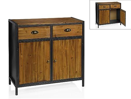 Andrea House MU66189 - Mueble Bar Cedro 80,5X35X81Cm