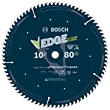 Bosch DCB1080 Daredevil10-Inch 80-Tooth Extra-Fine Finish for Melamine and Finished Plywood Circular Saw Blade (Color: Blue, Tamaño: 10