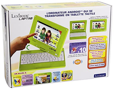 Lexibook   MFC140FR  - L'Ordinateur Tablette Tactile pour enfant avec Ecran 7 pouces rotatif (17,8 cm)
