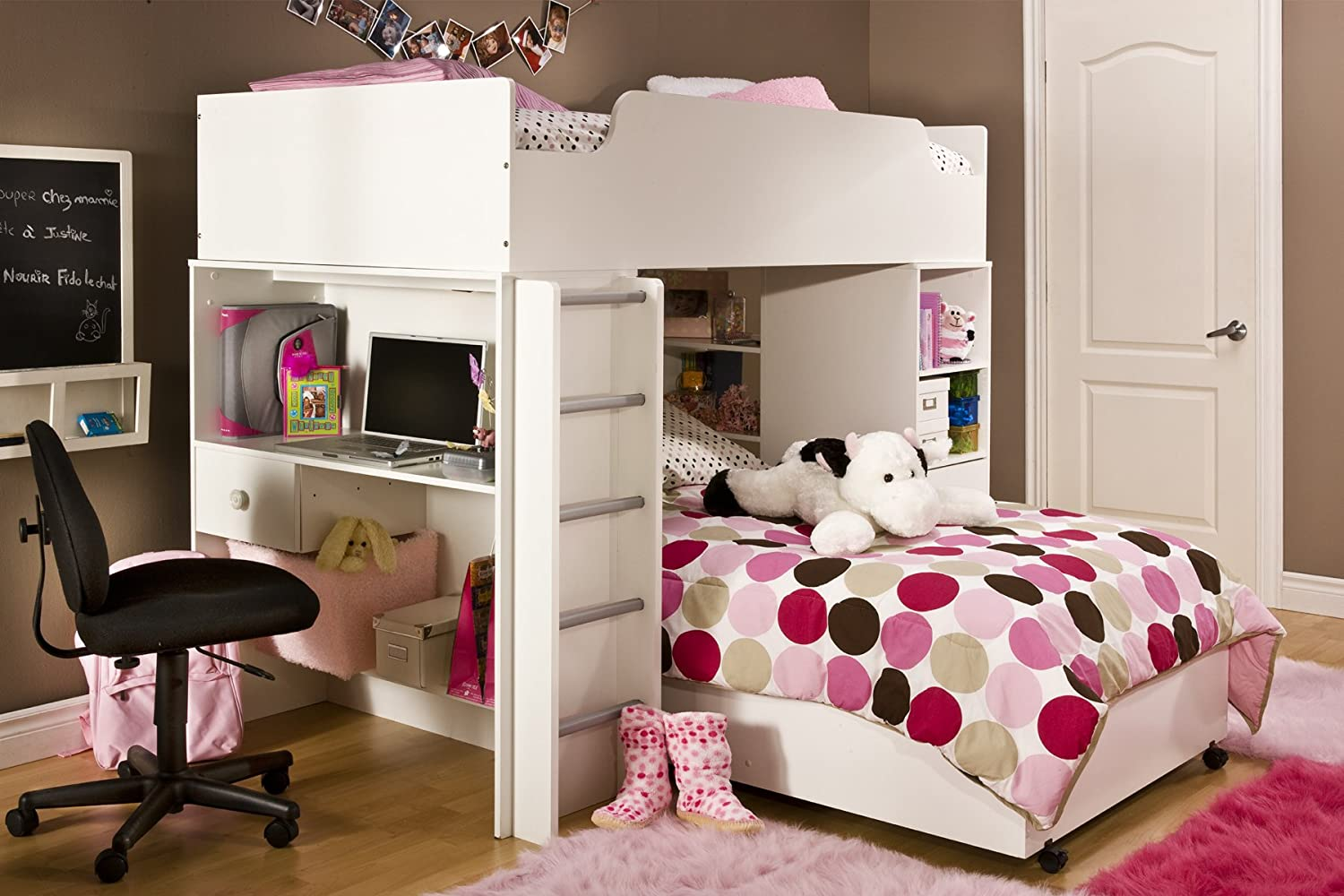 kids loft beds with desk. Black Bedroom Furniture Sets. Home Design Ideas