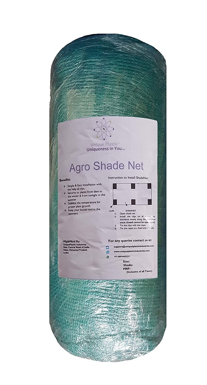 Buy Unique Plastic 42mx10m Agro Shade With Gripping Clip (green) Online  At Low Prices In India  Amazon