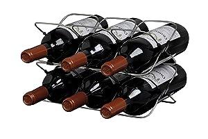 Metrokane Rabbit 6 Bottle Space Saver Wine Rack