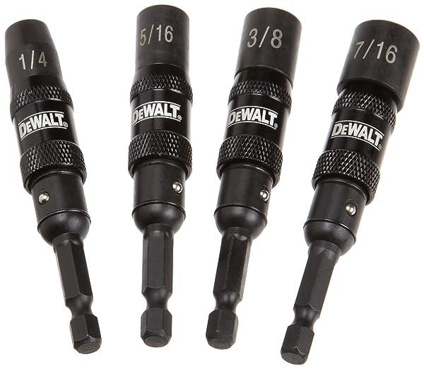 DEWALT DWPVTDRV 4-Piece IMpact Ready Magnetic Nut Driver Set (Color: Black)