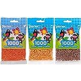 Perler Bead Bag 1000, 3-Pack - Tangerine, Honey & Gingerbread (Color: Tangerine, Honey & Gingerbread)