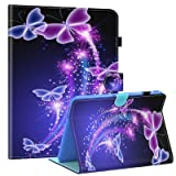 Galaxy Tab 4 10.1 Case,T530 Case,Dteck PU Leather Flip Stand Case with Auto Wake/Sleep Feature Folio Wallet Smart Shell Cover for Samsung Galaxy Tab 4 10.1 SM-T530NU T531 T535 Tablet,Purple Butterfly (Color: #02 Purple Butterfly)