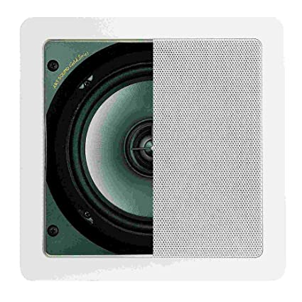"""Artsound Gold Series Encastrables DC700 Haut-parleurs multimédia Design """"carré"""" 100W Blanc"""