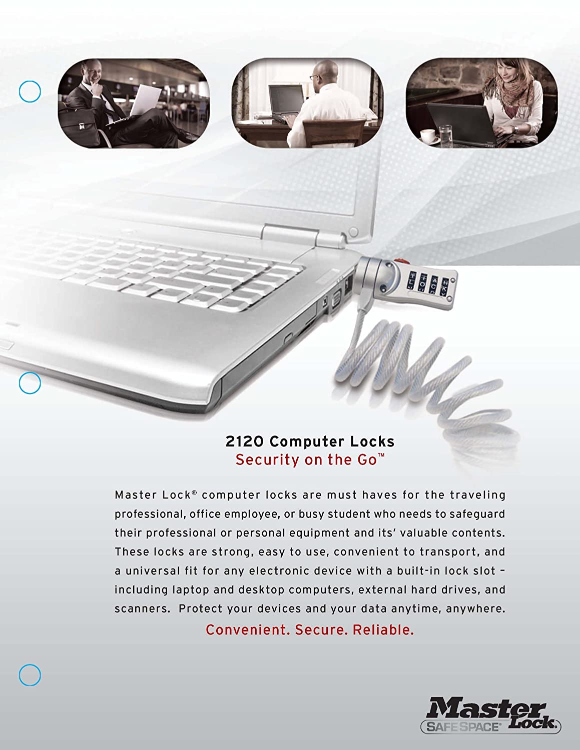 Master Lock 2120DWD Password Laptop Computer Lock