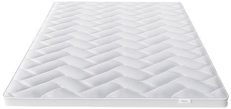 Hilding Sweden Cloud Matratzentopper aus Memory-Viskoschaum in Weiß / Bequeme Matratzenauflage fur besseren Schlafkomfort / 200 x 180 x 5 cm