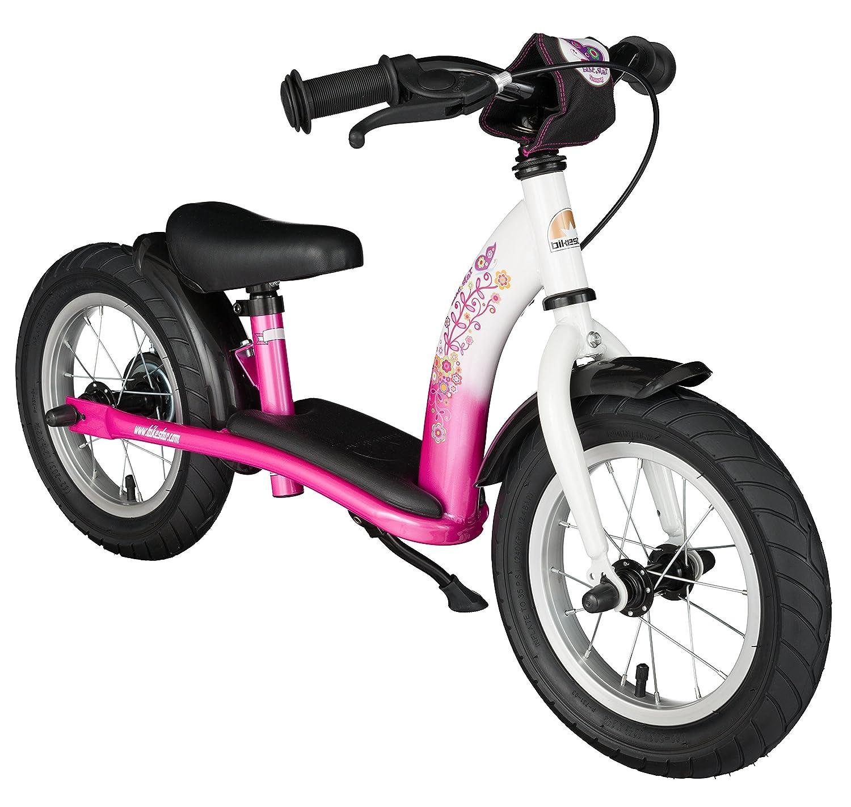 BIKESTAR® Premium Sicherheits-Kinderlaufrad für modebewusste Prinzessinnen ab 3 Jahren ★ 12er Classic Edition ★ Flamingo Pink & Diamant Weiß bestellen