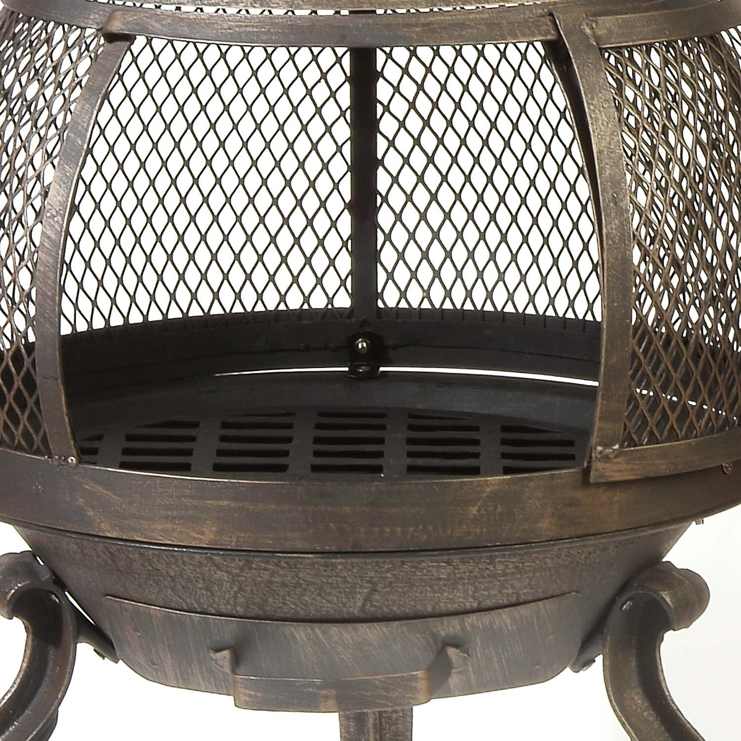Cast Iron Chiminea Backyard Outdoor Fire Pit Heater