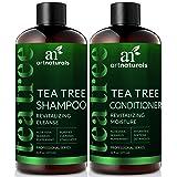 ArtNaturals Tea-Tree-Oil Shampoo and Conditioner Set - (2 x 16 Fl Oz / 473ml) – Sulfate Free – Therapeutic Grade Tea Tree Essential Oil - Deep Cleansing for Dandruff, Dry Scalp and Itchy Hair (Color: Tea Tree Shampoo Duo, Tamaño: 2 * 16 Fl Oz / 473ml)