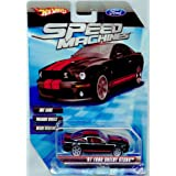 Hot Wheels Speed Machines '07 Ford Shelby GT500 BLACK 1:64 Scale (Color: Black, Tamaño: 1:64 Scale ~ 3
