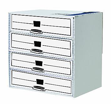 fellowes 1130403 module de rangement rangement 4 compartiments banker box system. Black Bedroom Furniture Sets. Home Design Ideas