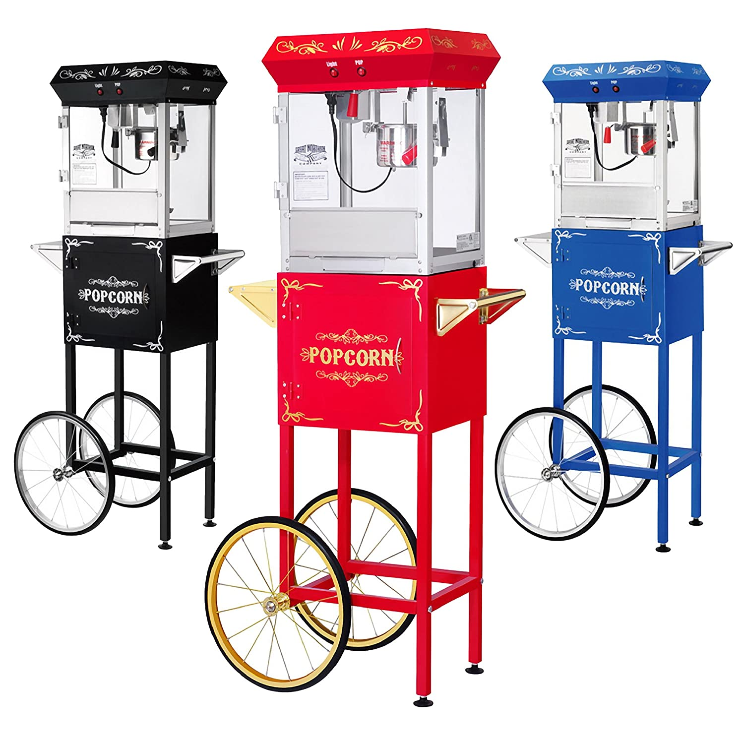 List of Great Northern Popcorn Red 6 oz. Ounce Foundation Vintage Style Popcorn Machine and Cart