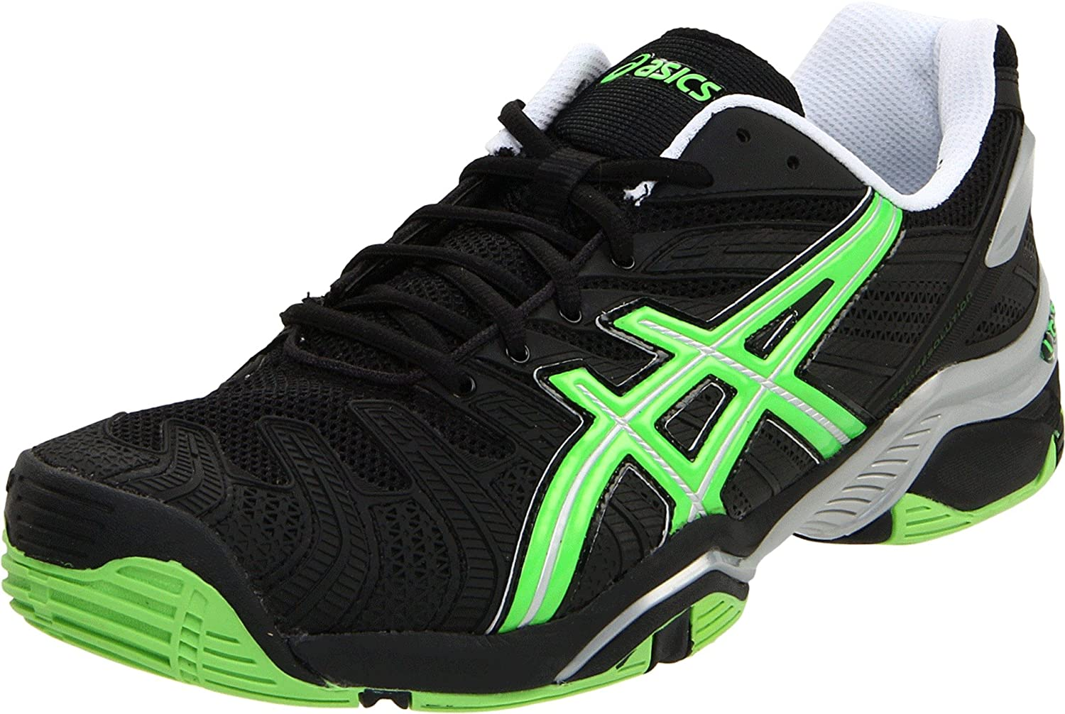 ASICS Men's GEL-Resolution 4 Tennis Shoe,Black/Apple Green/Lightning,10.5 M US $60.32