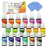 18 Color Bath Bomb Soap Dye with Shrink Wrap Bags - Food Grade Skin Safe Coloring for DIY Bath Bomb Making, Handmade Soaps, Crafts (18 Color + Shrink Wrap Bags) (Tamaño: 18 Colorants + Shrink Wrap Bags)