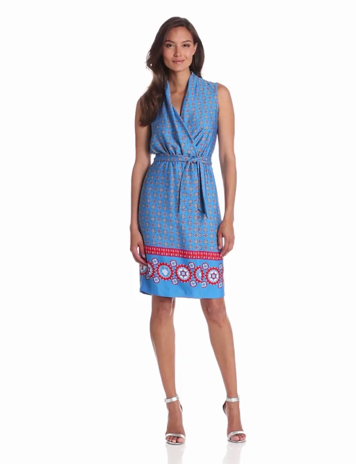 Anne Klein Women's Foulard Print Wrap Dress