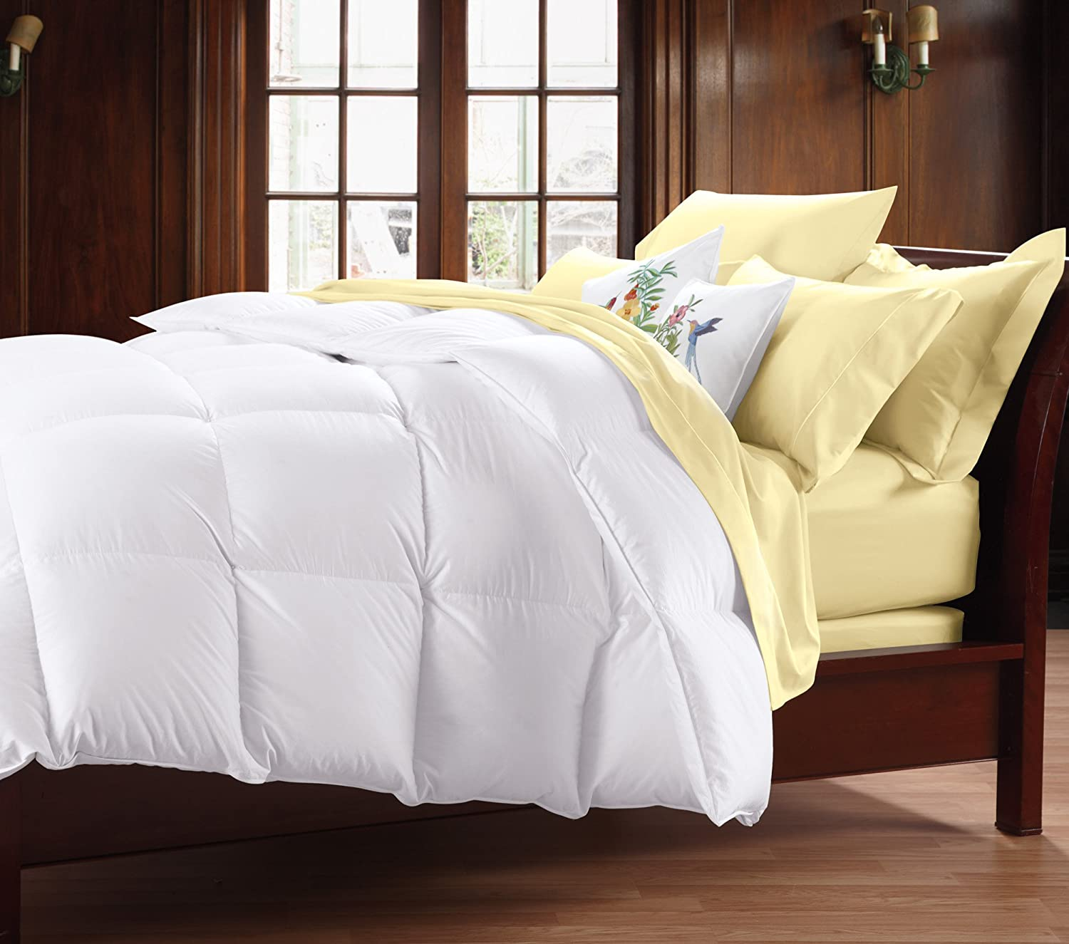 Cuddledown 400TC Down Comforter, Over Size, King, Summer, White: