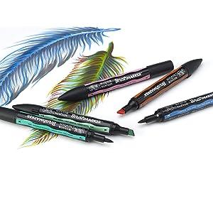 Winsor & Newton ProMarker 24 Mixed Marker Set (Color: Mixed Marker 24)