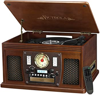 Victrola VTA-600B Wood 8-in-1 Turntable