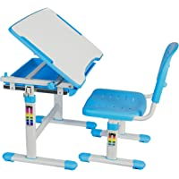 VIVO Height Adjustable Childrens Desk & Chair Kids Interactive Work Station (Blue)
