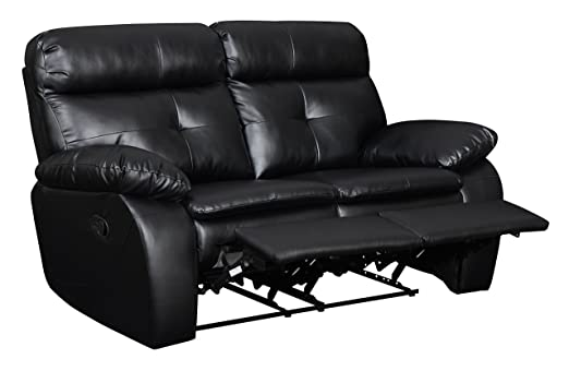 Glory Furniture G573-RL Reclining Loveseat, Black