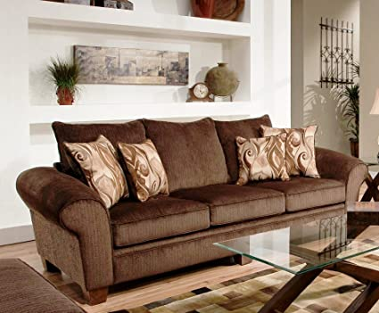 Chelsea Home Furniture Jewel Sofa, Envy Godiva/Provocative Brown