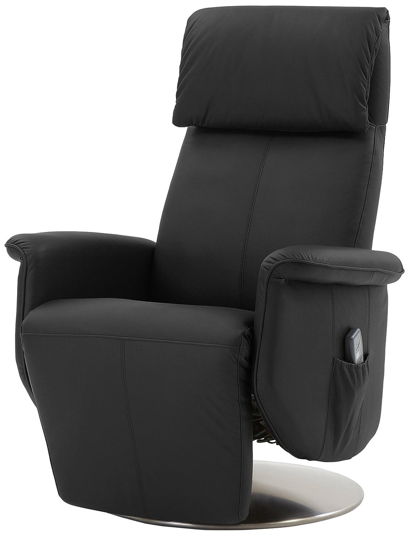 Mein Sessel SL-850 Relax und Ruhesessel in Rindsleder mit motorischer Verstellung, schwarz