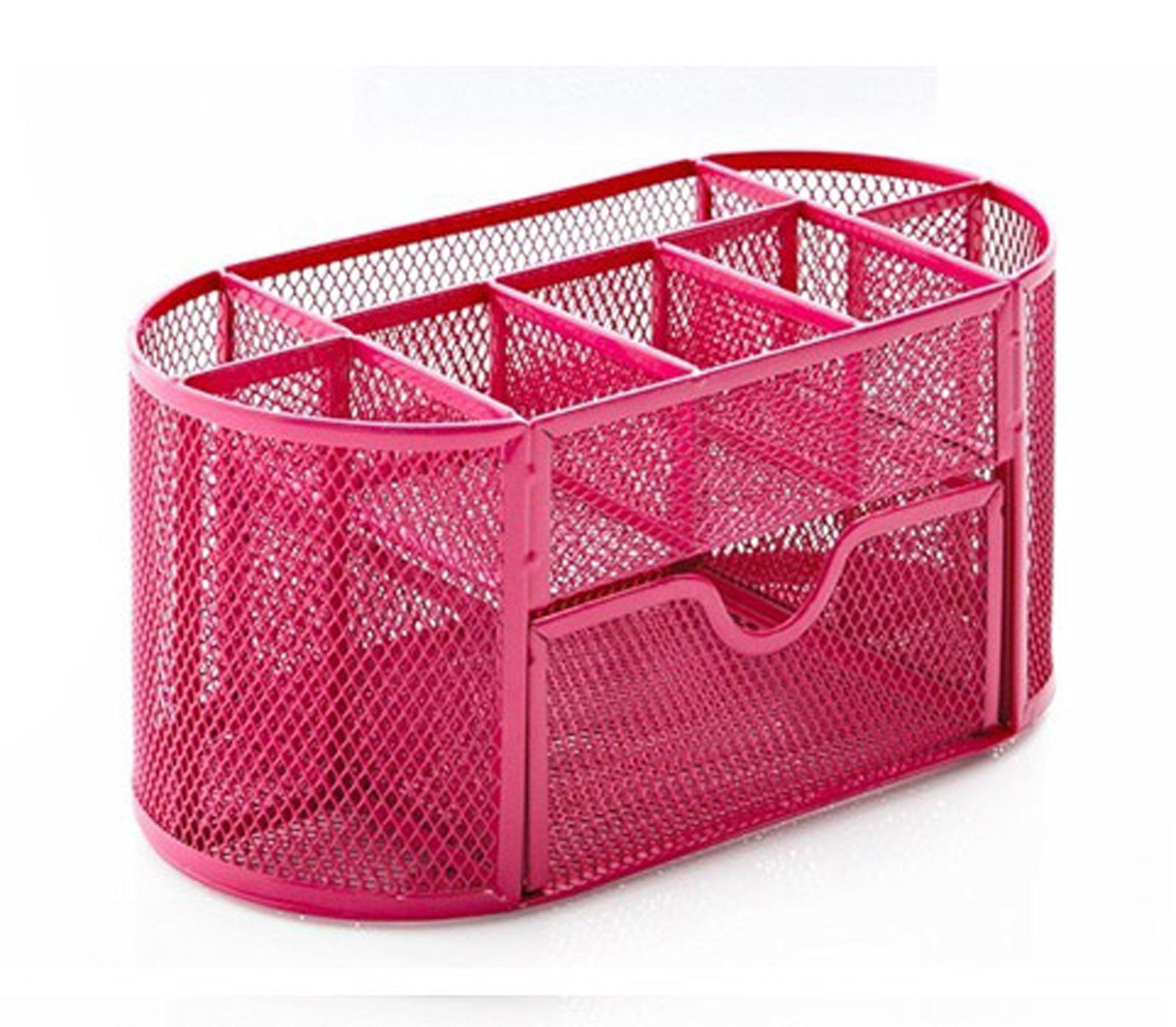 Desk organizer office supply caddy office school home - Pink desk organizer ...