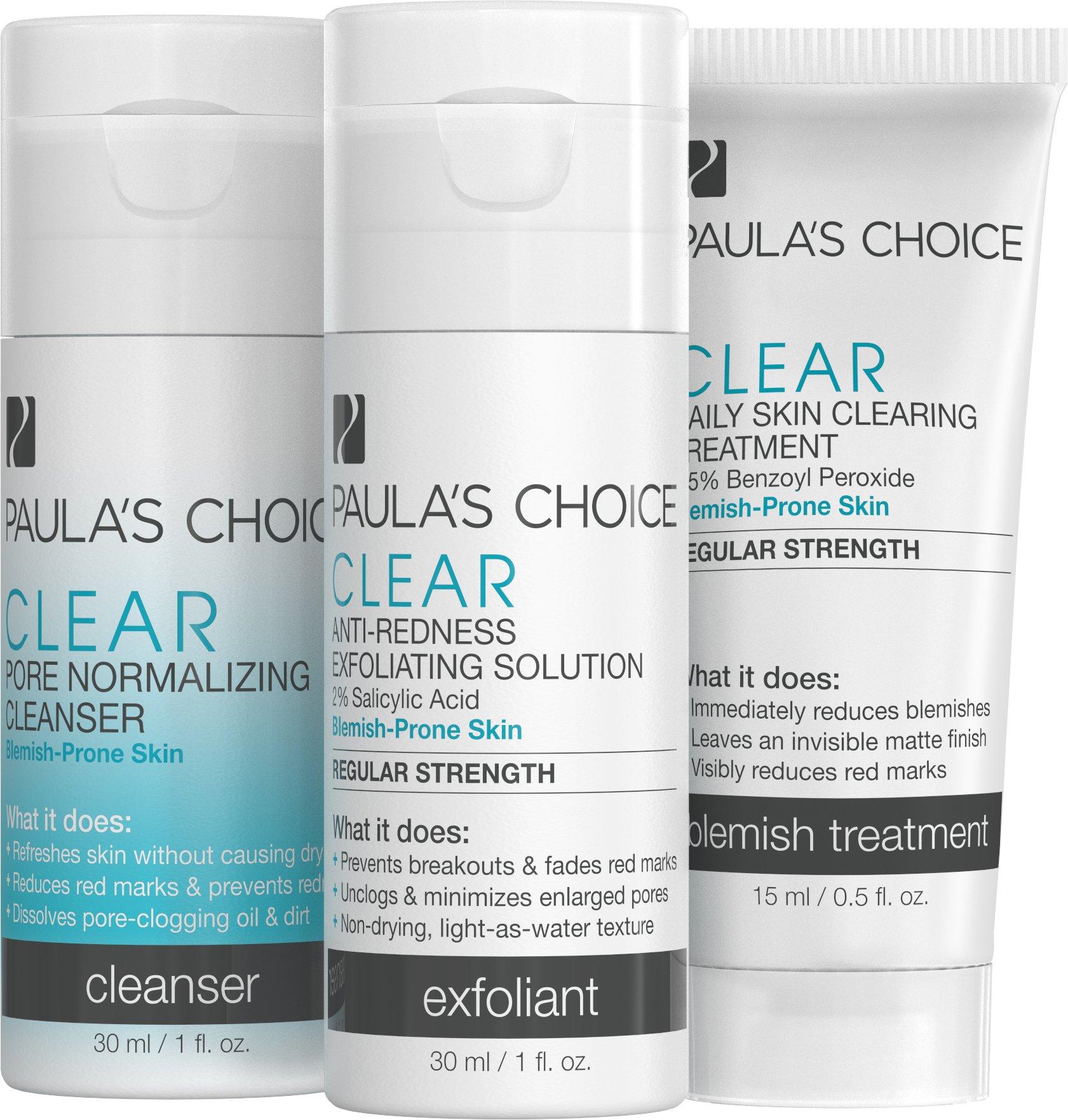 Paula's Choice Paula's Choice Clear Regular Strength Acne Trial Kit 2% Salicylic Acid & 2.5% Benzoyl Peroxide for Moderate Acne