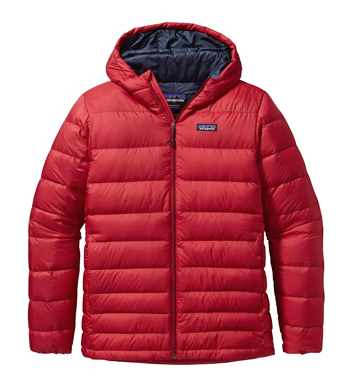 Patagonia M HI-Loft Down Hoody – Classic Red – – Wasserabweisende isolierte Herren Daunen Kapuzenjacke jetzt bestellen