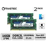 Timetec Hynix IC Apple 16GB Kit (2x8GB) DDR3L 1600MHz PC3L-12800 SODIMM Memory upgrade For MacBook Pro13-inch/15-inch Mid 2012, iMac 21.5-inch Late 2012/ Early/Late 2013(16GB Kit (2x8GB)) (Tamaño: 16GB Kit (2x8GB))