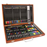 US Art Supply 82 Piece Deluxe Artist Studio Creative Wood Box Set (Tamaño: 82-Piece Standard Set)