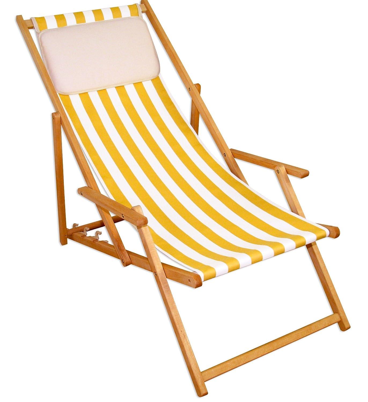 Sonnenliege Gartenliege Deckchair Saunaliege Beige günstig