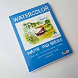 Bellofy 50 Sheet Watercolor Paper Pad - 130 IB/190 GSM Weight - 9x12 in Size - Cold Press Paper - Water Painting Art Notebook Pad