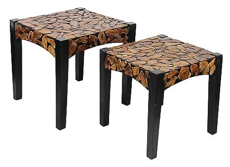 Benzara ETD-EN110700 Uniquely Designed Trendy Wooden Coffee Table