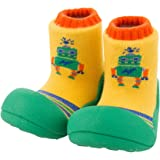 Attipas Baby First Walker Shoes (Large, Robot Green) (Color: Robot Green, Tamaño: Large)
