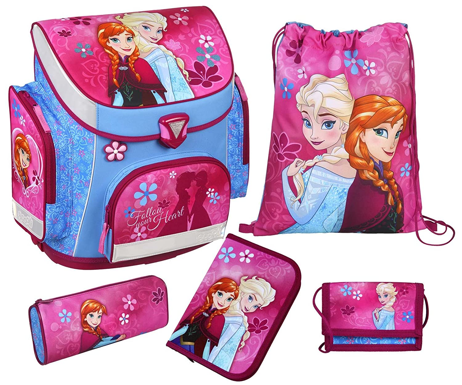 Scooli Schulranzen Set Campus Plus mit Motiv Disney Frozen