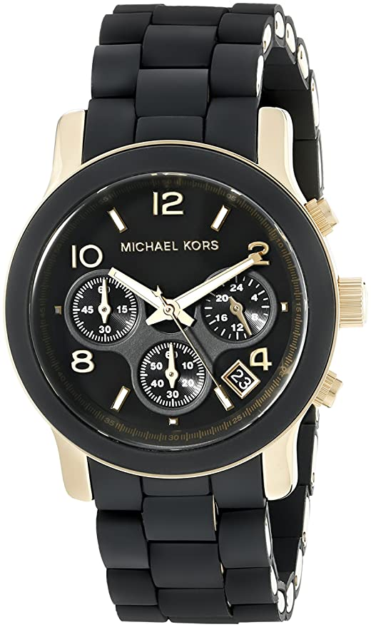 Best watch brands Michael Kors Women's MK5191 Runway Analog Display Analog Quartz Black Watch